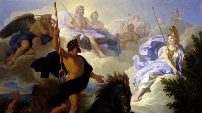 Memperebutkan Kota Athena dengan Dewi Athena